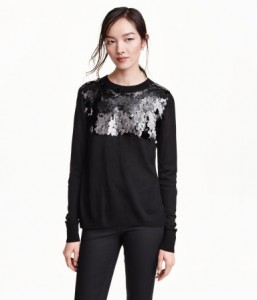 h&m sequined sweater sale