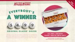 Krispy Kreme Dozen Donuts for $4.99