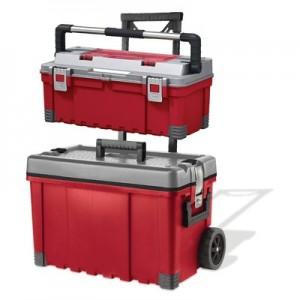 Keter Mobile Cart and Flat Tool Box Set