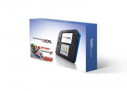 Nintendo Blue 2DS Mario Kart 7 console Sale