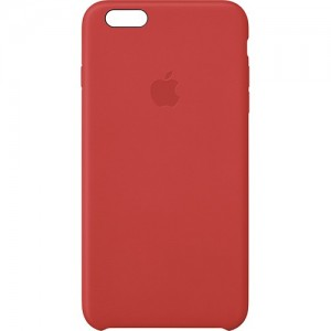 Apple - Leather Case for Apple iPhone 6 Plus - Red