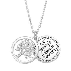 Silver Expressions by LArocks Family Tree Pendant Necklace