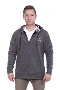 US-Army-Mens-Performance-Full-Zip-Hoodie-X-Large-Grey-0
