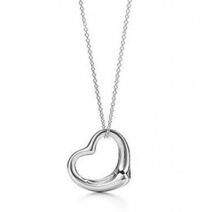 picture of Free White Gold Plated Heart Pendant With 18