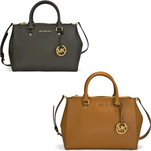 picture of Michael Kors Saffiano Leather Satchel Handbag Sale
