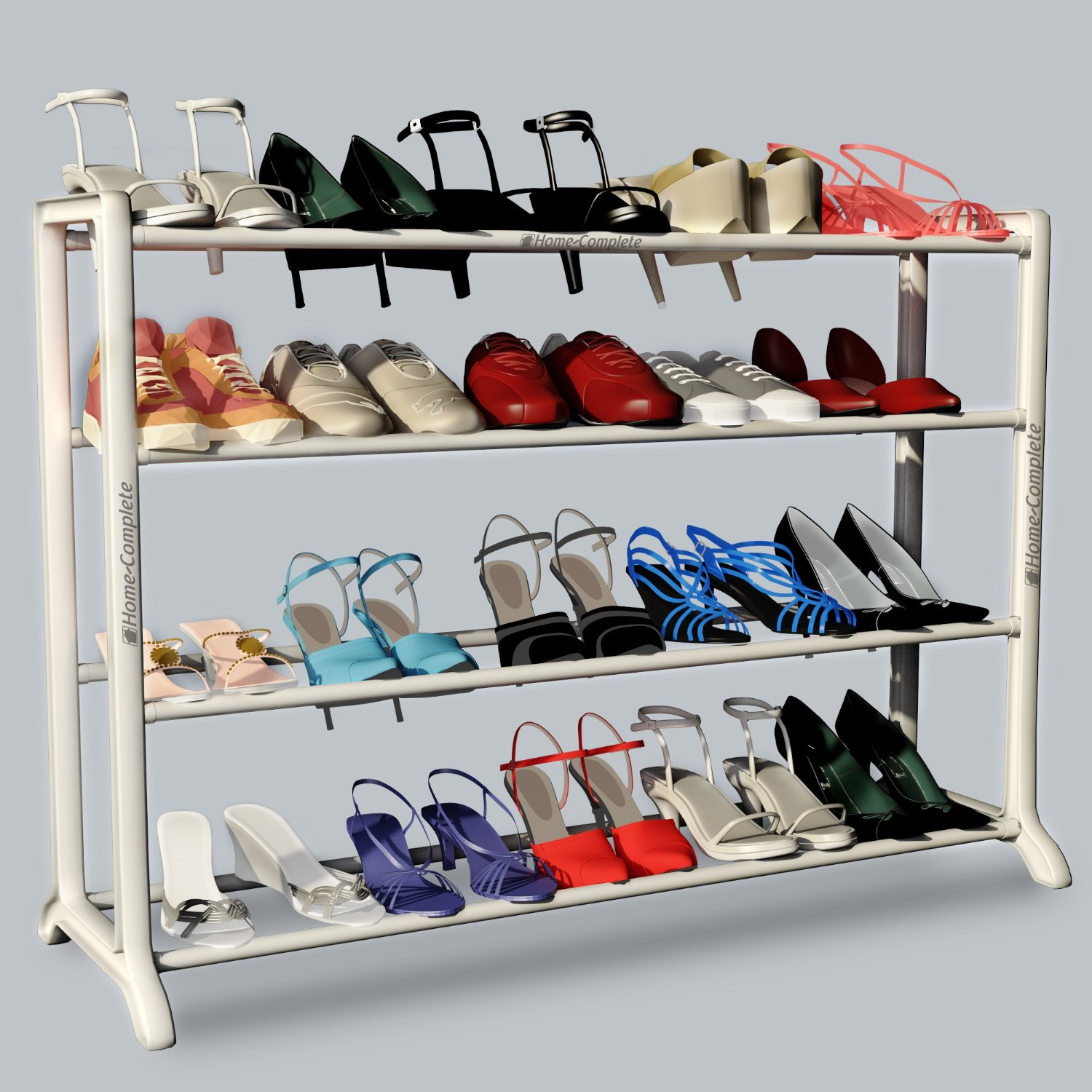 neatlizer shoe rack organizer sale 20 pairs buyvia. Black Bedroom Furniture Sets. Home Design Ideas