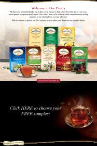 3 Free Twinings of London Tea Samples