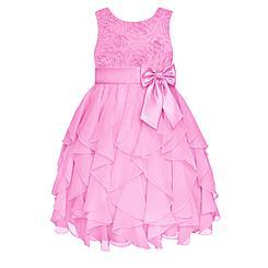 American Princess Girl's Chiffon Waterfall Party Dress