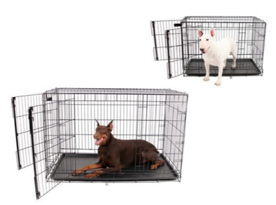 picture of Carlson Heavy-Duty Two Door Wire Pet Crate Sale