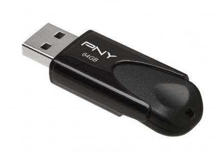 PNY Attache 64GB USB 2.0 Flash Drive