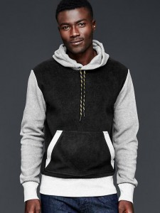 picture of Gap Fleece Colorblock Hoodie Sale