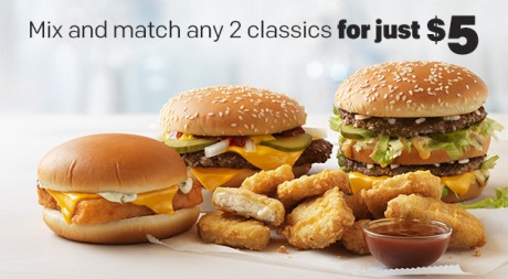 picture of McDonalds McPick 2 for $5
