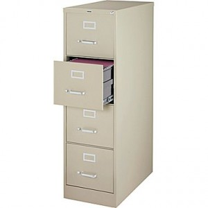 Staples 4 drawer Letter sized file cabinet