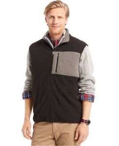 IZOD Mixed-Media Fleece Vest Sale