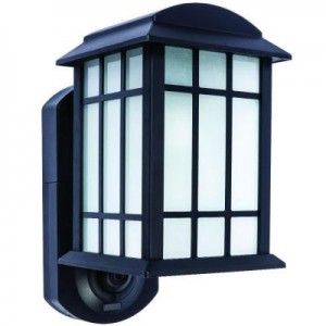 Maximus Smart Security Textured Black Metal and Glass Outdoor Wall Lantern Sale
