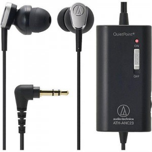Audio-Technica ATH-ANC23 QuietPoint Active Noise-Cancelling In-Ear Headphones Sale