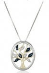 Sterling Silver and gold tree of life pendant necklace