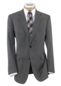 executive 2-button wool suit with center vent sale