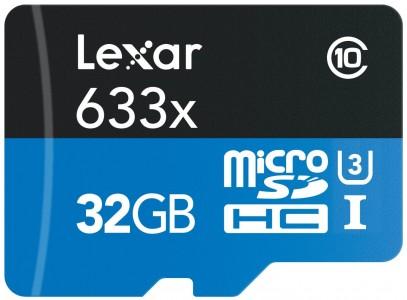 Lexar 32GB microSDHC Card w/Reader Sale