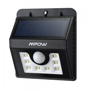 Mpow Super Bright 8 LED Solar Powered Wireless Security Light Sale