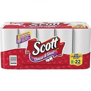 Scott Choose-A-Sheet Paper Towels, 15 Mega Roll Sale