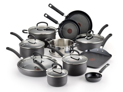 picture of T-Fal 17 Piece Ultimate Hard Anodized Durable Nonstick Cookware Set