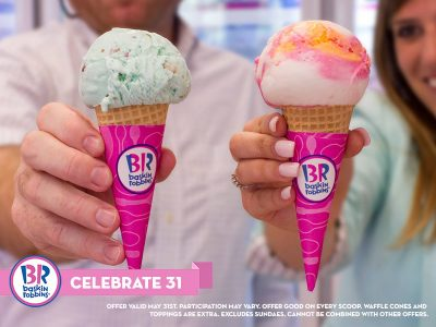 picture of Baskin-Robbins $1.31 Cone Today