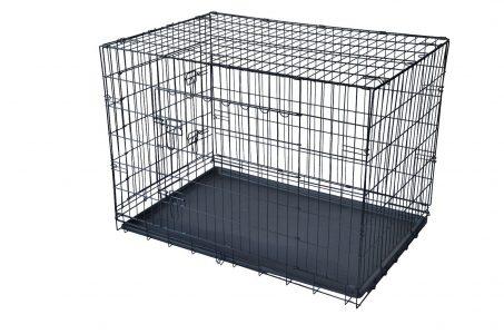 Black 48″ 2 Door Pet Cage Sale