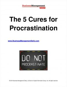 picture of Free eBook: 5 Cures for Procrastination