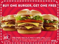 Jack in a Box – Buy 1 Get 1 Free Burger