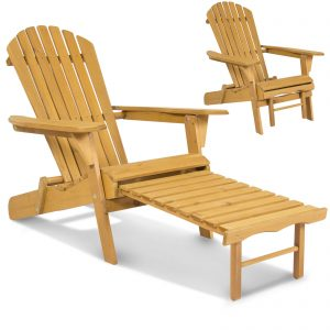 Outdoor Adirondack Wood Chair – Foldable