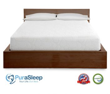 PuraSleep 10 Inch CoolFlow Memory Foam Mattress