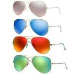 Ray Ban RB 3025 Mirrored Aviator Sunglasses Sale