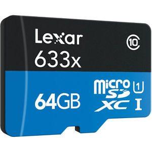 Lexar 64GB 633x microSDHC Memory Card Sale