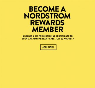 Free Nordstrom $10 Promotional Certificate