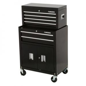 Husky 26in 6 Drawer Tool Chest and Rolling Tool Cabinet Set