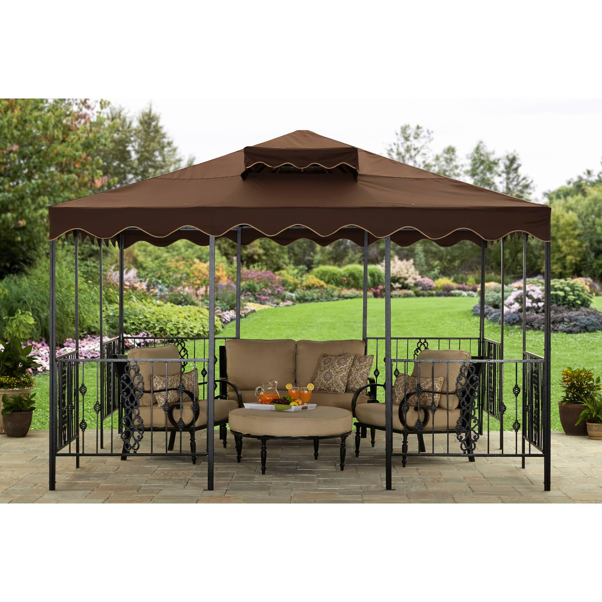 better homes and gardens castleman garden gazebo sale. Black Bedroom Furniture Sets. Home Design Ideas