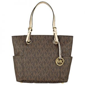 Michael Kors Jet Set Signature Logo Tote Handbag Sale
