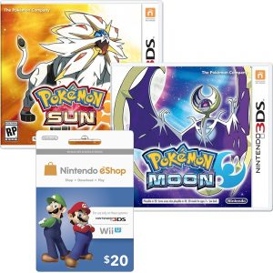 15% off Nintendo eShop Prepaid Cards with Pokemon Moon or Sun 3DS