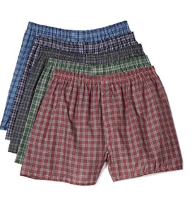 picture of Fruit of the Loom Men's Exposed Waistband Woven Fashion Boxers(Pack of 5)