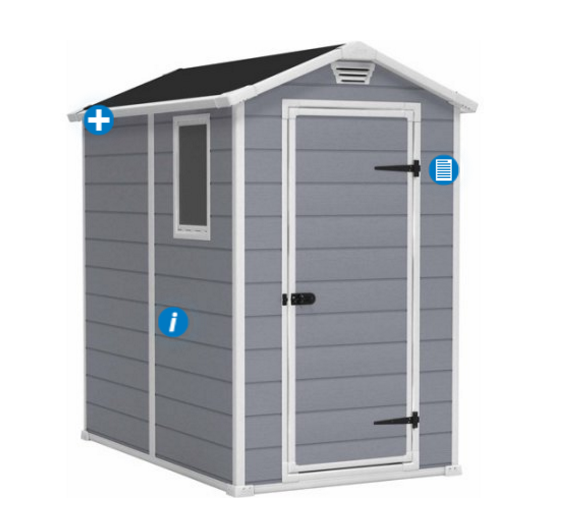 Keter Manor Stronghold Large 4 x 6 ft. Resin Outdoor Storage Shed Sale $339.00  Free Shipping from Walmart
