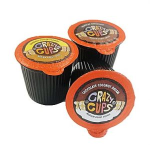 Crazy Cups Flavored Sampler Single Serve Coffee Cups for Keurig K Cups Sale