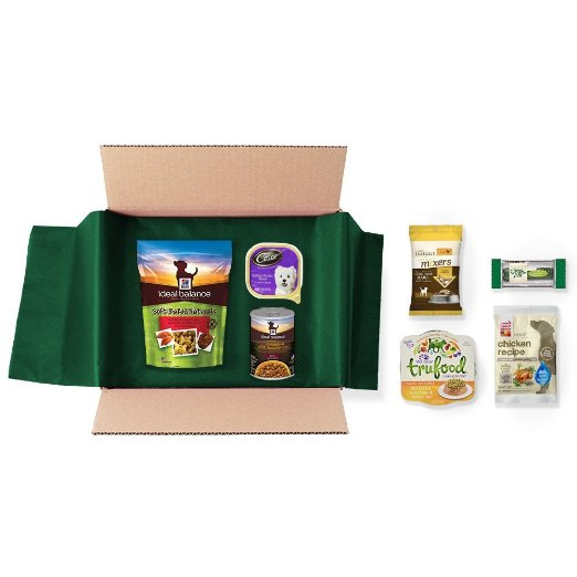 Free Dog Food and Treats Sample Box ($9.99 Credit with Purchase)   Free Shipping from Amazon