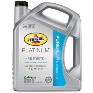 picture of Pennzoil Platinum Full Synthetic 5W30, 5W20 5 Quart Motor Oil Sale