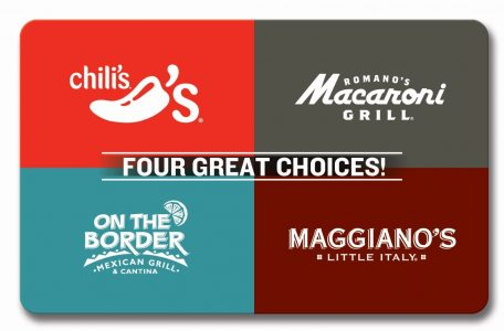 $21 for $25 Chili's, Macaroni Grill, Maggiano's, On The Border Gift Card Sale