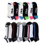 6 Pairs: Fila Shock Dry No-Show Athletic Socks