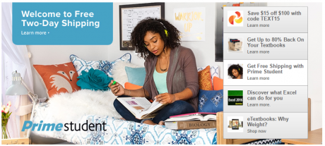 picture of Amazon Off to College Deals - Text Book $15 off $100 Coupon