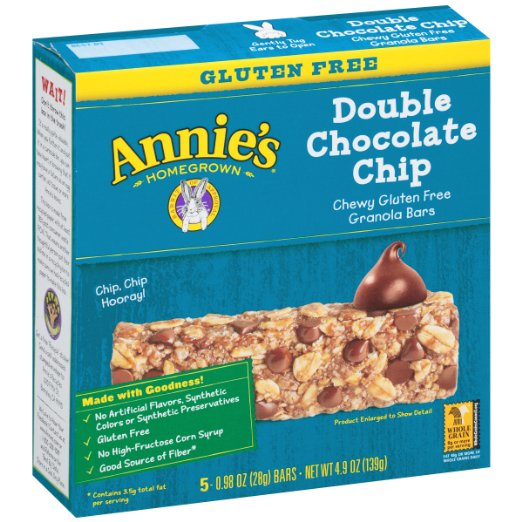Annie's Chewy Gluten Free Granola Bar 5pk Sale $2.14  Free Shipping from Amazon