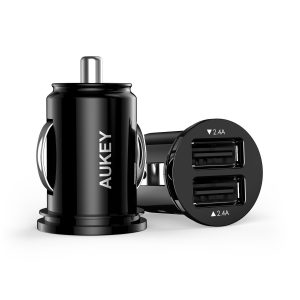 Aukey 2 Port 30Watt USB Car Charger with Cable Sale