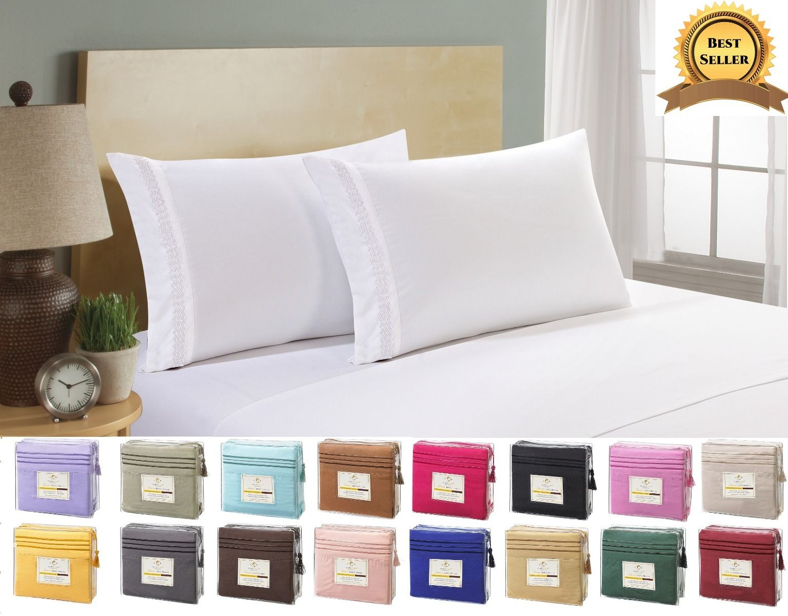 Egyptian Comfort 1800 Count 4 pc Bed Sheet Sale $10.49  Free Shipping from eBay